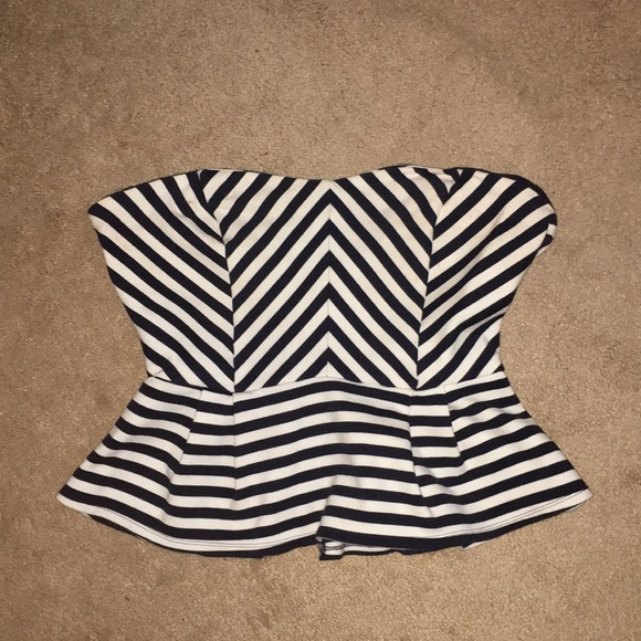 Forever 21 Striped Tube Top